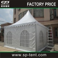 4x4m Aluminum frame PVC metal decorative roof gazebo for sale
