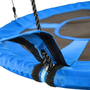 Helicopter Swing Chair- Outdoor Rattan Swing Chair Bonus Flag Set and 2 Carabiners - Non-Stop Fun for Kids!