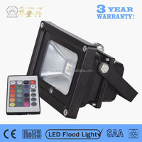 Huadengxing driver recessed radio fm 10w color changing outdoor led flood light