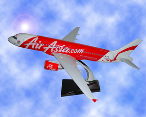 38cm resin Airbus A320 airplane model Air Asia promotion gift plane model with stand customized
