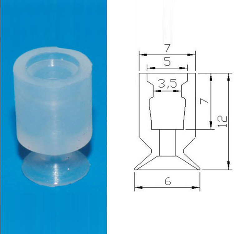 10mm suction hand bellows vacuum cups