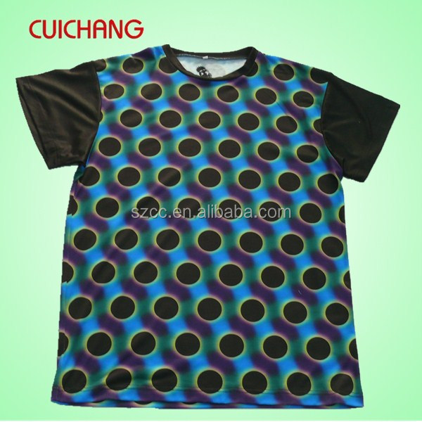 100 polyester sublimation t shirt&sublimation sport t shirt&dye sublimated dry fit t shirt cc-904