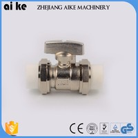 brass long stem ball valve locking device ball valve double seat ball valve