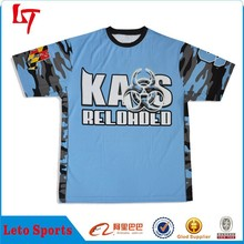 Men blue custom digital print design sport t shirt /wholesale graphic t-shirt/ free pattern blous