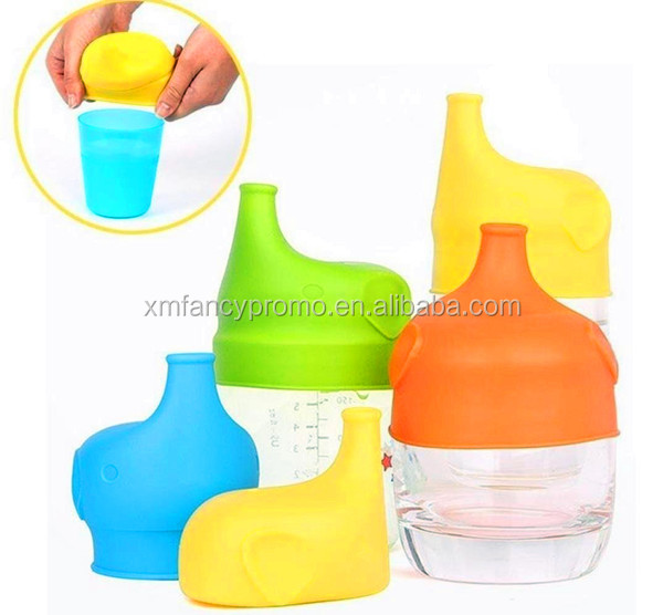 Silicone Sippy Cup Lids With Spill-Proof Training Cup for Babies Kids