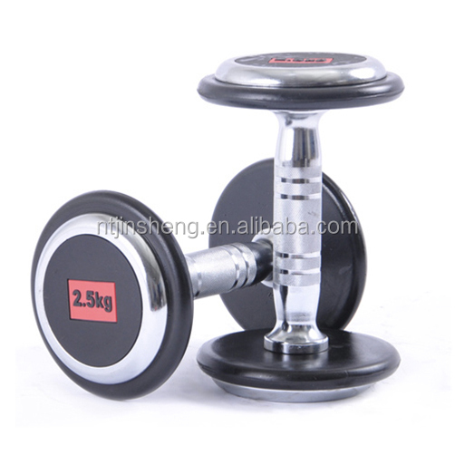 Price of Cheap chromed rubber coated hammer strength dumbbell for fitness