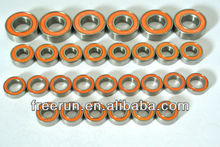 High Performance KYOSHO FW-05 FOAM TIRE SPECIAL CHASSI ceramic bearing kits with different rubber seal color