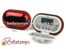 Pedometer with cover