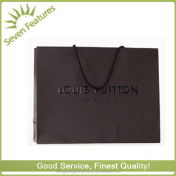 little yellow drawstrings black beautiful paper printed gift bag for luxury brand
