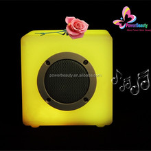 2016 connection bluetooth stronger battery life most popular outdoor travel cube speaker with led light