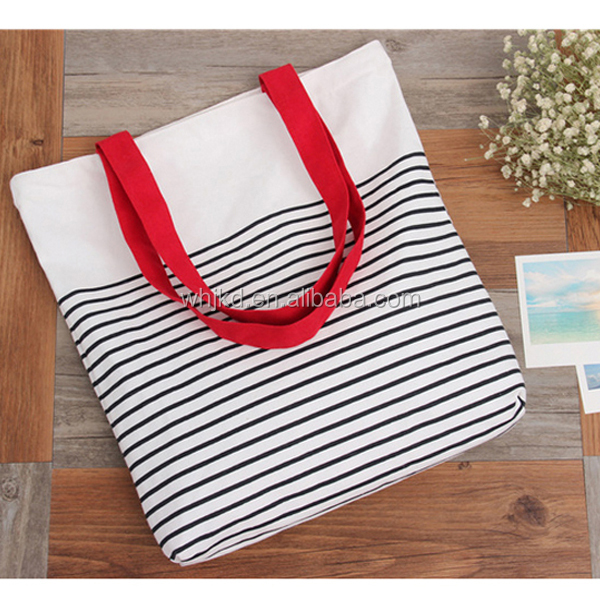 Unique promotional plain eco cloth tote cotton canvas beach bags with logo printing