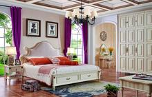 2017 Latest solid wood bedroom furniture was made from oak solid wood for the bedroom furniture sets