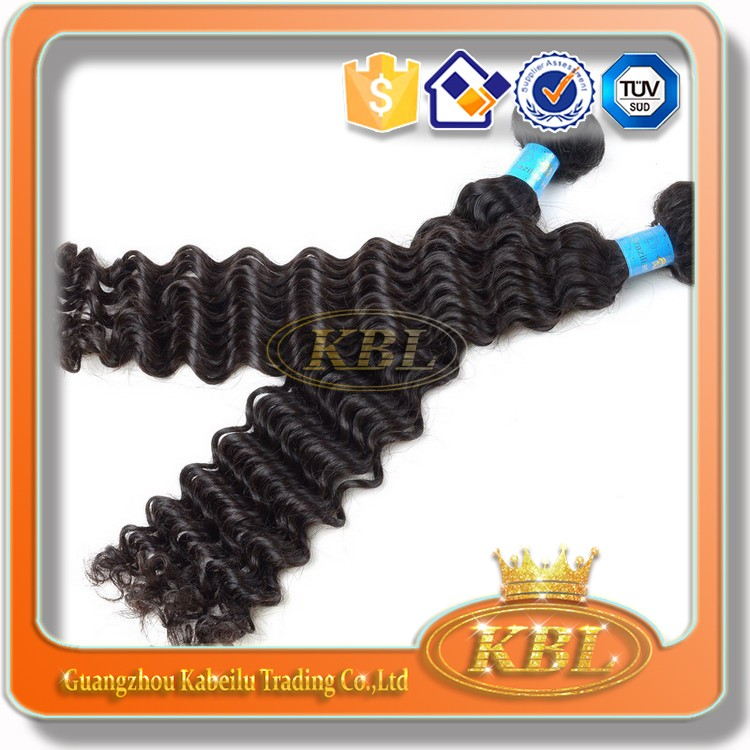 Double Drawn mongolian kinky curly hair weave 6 inches