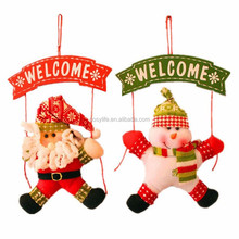 Santa Claus Snowman Tree Door Christmas Decoration For Home Ornament Decor Hanging Pendant Christmas Gift Navidad Decoration