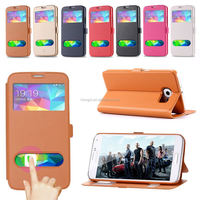 S5 Cover Smart Function Window View Flip Leather Case Back Cover For Samsung Galaxy S5 I9600 Capa With Wallet & Stand Function