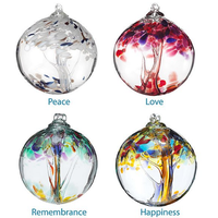 Handmade glass ball for Christmas holiday decoration tree of life glass witch ball