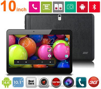 10 inch Dual Core 3G Phone Tablet PC MTK6572 Android 4.4 1GB RAM 8GB ROM 2.0MP Bluetooth GPS 3G Tablet