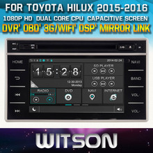 AUTO RADIO DVD For TOYOTA HILUX 2015/REVO 2015 STEERING WHEEL CONTROL FRONT DVR CAPACTIVE SCREEN