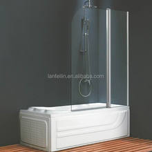 P02P Hot Selling Bath With Glass With Aluminium Alloy Wall Profiles