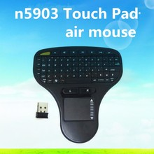 2016 Original N5903 2.4G Wireless Mini Air Mouse Touch Pad Keybord Remote Control For Android TV BOX PC Computer Notebook