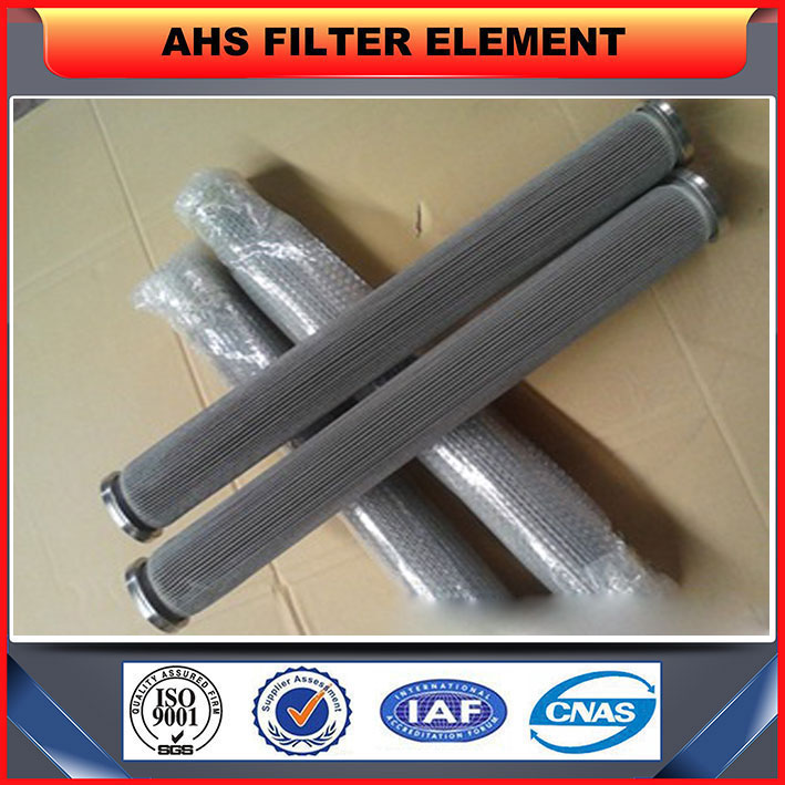 Polymer Melt Pleated Metallic Fabric Filter Element