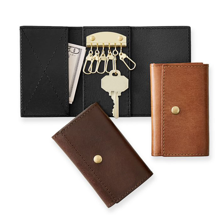Leather Trifold Key Wallet