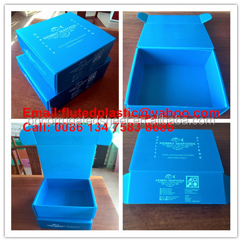 PP corrugated plastic Coroplast transport fish shipping box