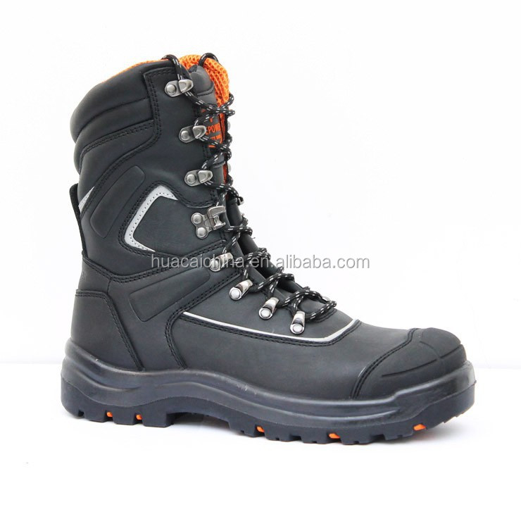 mens leather steel toe cap antistatic pu sole industrial safety shoes/PPE safety equipment