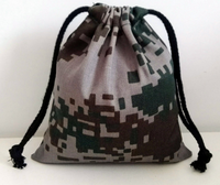 mini army style drawstring pouch