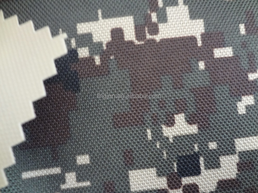 100%polyester fabric, 900D Pixel Printed Fabric coated with PVC