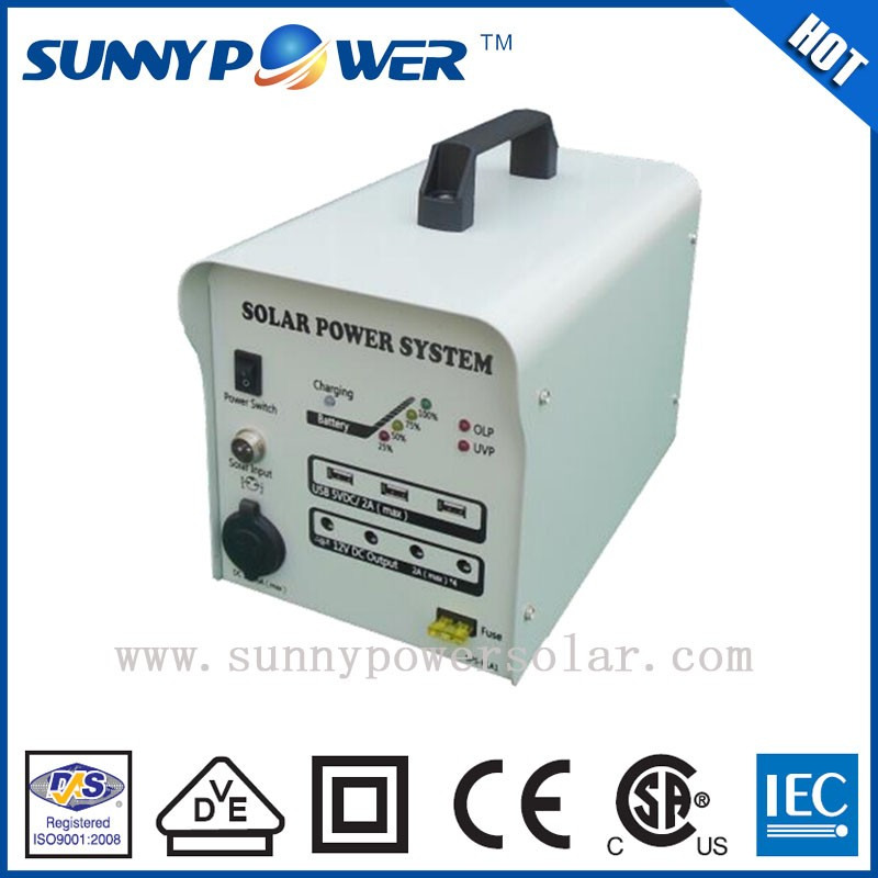 lower price 60w solar equipment and solar portable system with battery backup
