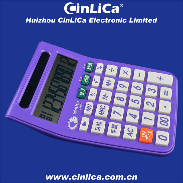 shining purple tax calculator, large solar calculator 12 digit