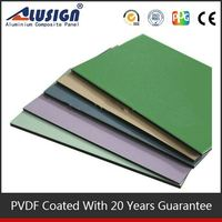 Alusign best seller colored plastic wall panels for decorative material aluminum composite panels