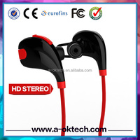 Sweatproof 4.1 In-ear noise cancelling wireless stereo headphone bluetooth phone handset