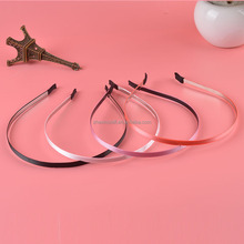 New solid color Wholesale Blank Plain Metal Headband 5mm Hair Band For for teen girls Hair Accessories DIY Craft