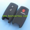 High quality 2 buttons silicone car key case for suzuki key cover silicone key cover for suzuki