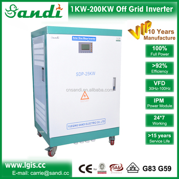 25kw off grid solar charge controller inverter