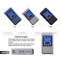 Most popular 7W-60W Kamry 60W Box Mod 2200mah battery for e-cig With 0.3-9.0Ohm