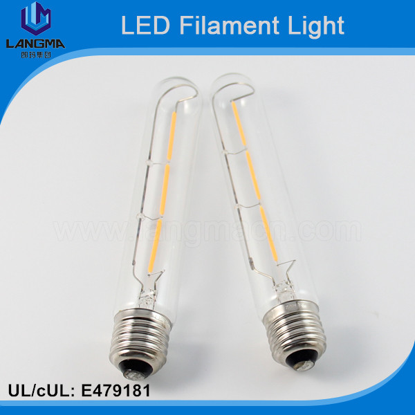 CE approval ac240v 6w/8w dimmable t30 clear led filament light bar