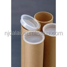 Custom made biodegradable cylinder cardboard shipping tube mailing tube with metal/plastic caps