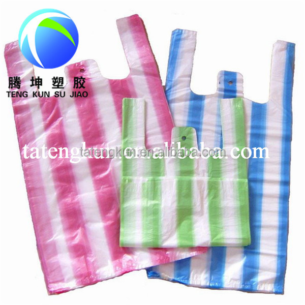 Plastic shopping bags recyclable plastic shopping bag for Plastic shirt bags wholesale