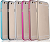 Metal Aluminum TPU Frame Transparent Clear Acrylic Hard Back Case Cover for iPhone 6 6 Plus 5 5S 4 4S
