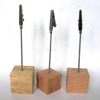 Wooden Cube Shape Note Clip Holders