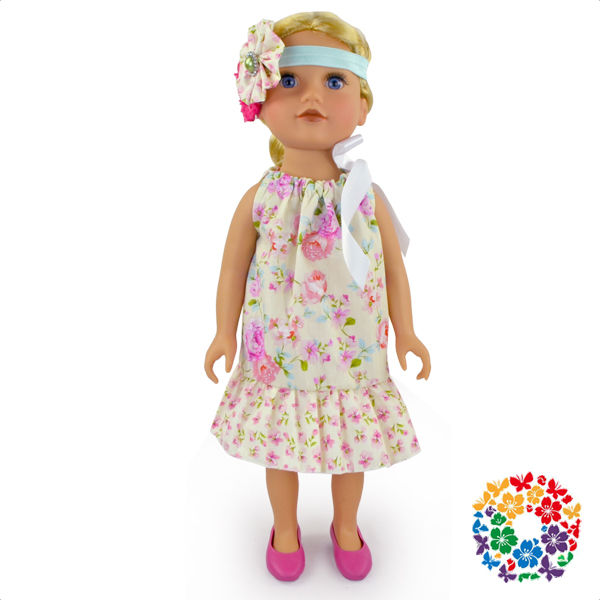 Sleeveless Summer Dress Cheap 18 Inch American Doll Clothes Lovely Baby Dresses Cotton Pattern