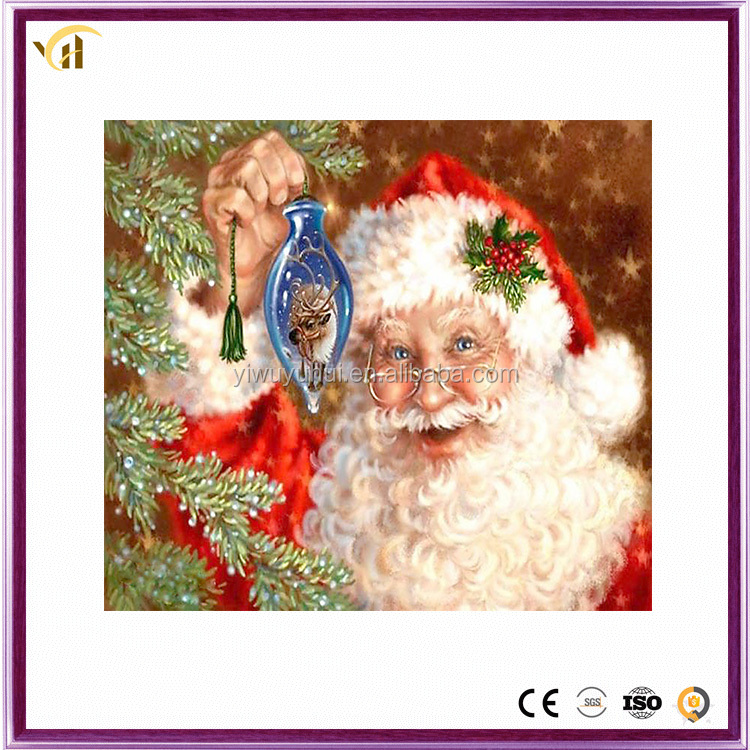 Factory outlet wholesale best price christmas santa canvas diamond paintings