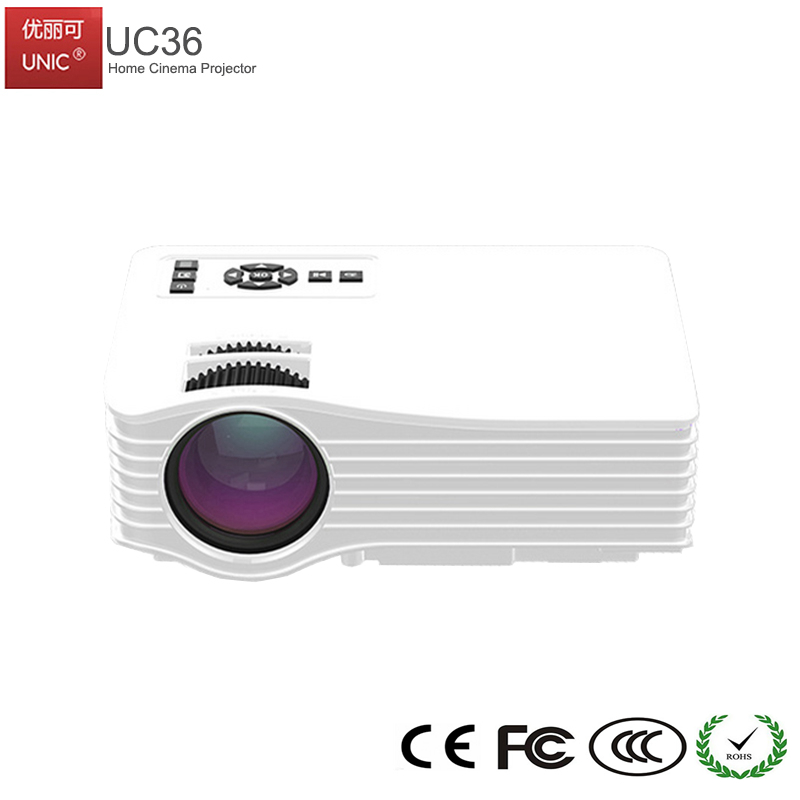 2017 UNIC Mini LED 1080P LED Portable Home Projector UC36