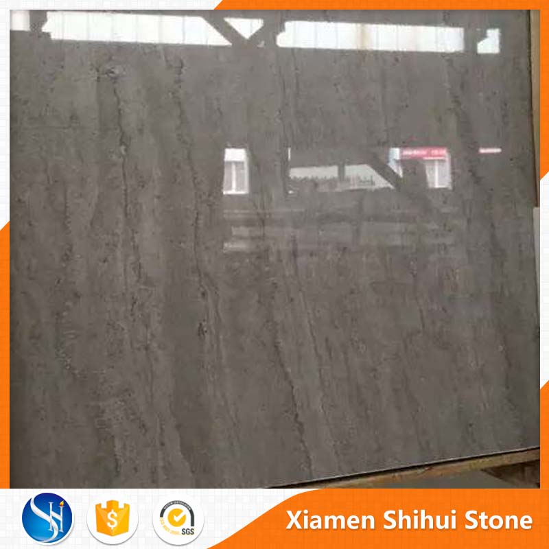 Polished White Italian tundra silver silvery grey marble with vein for hotel using