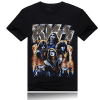 rock bands KISS music t shirt for western country wholesaler