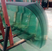 5mm,6mm,8mmLight Green Bent Tempered Glass