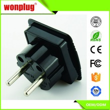 250V 10-16A uk to eu adapter Europe plug adaptors euro converter with CE&RoHS